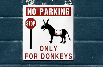 No parking unless you are a donkey
